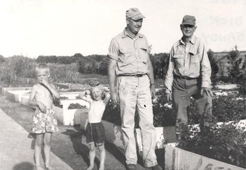 Dick, Sandy, Bob & Claude in 1952