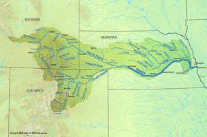 Map 1 Platte River Drainage Area