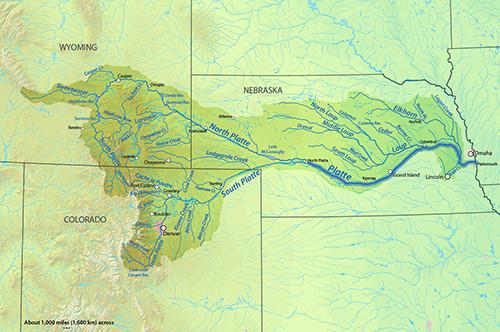 platte river map nebraska Map 1 Platte River Drainage Area Nebraska Education On Location platte river map nebraska